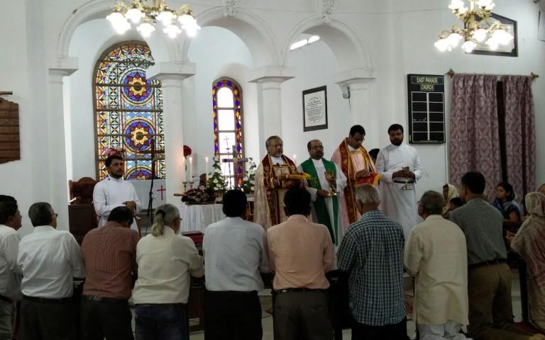 Holy Qurbana at CSI church