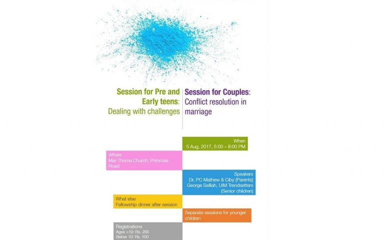 Session for couples/pre-teens