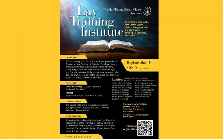 Lay Training Institute